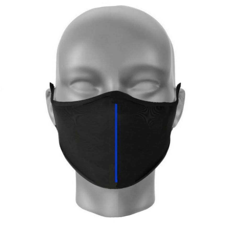 COOL-MASK PRO Kasvomaski Thin Blue Line
